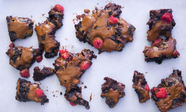 Raspberry Dulce de Leche Brownies