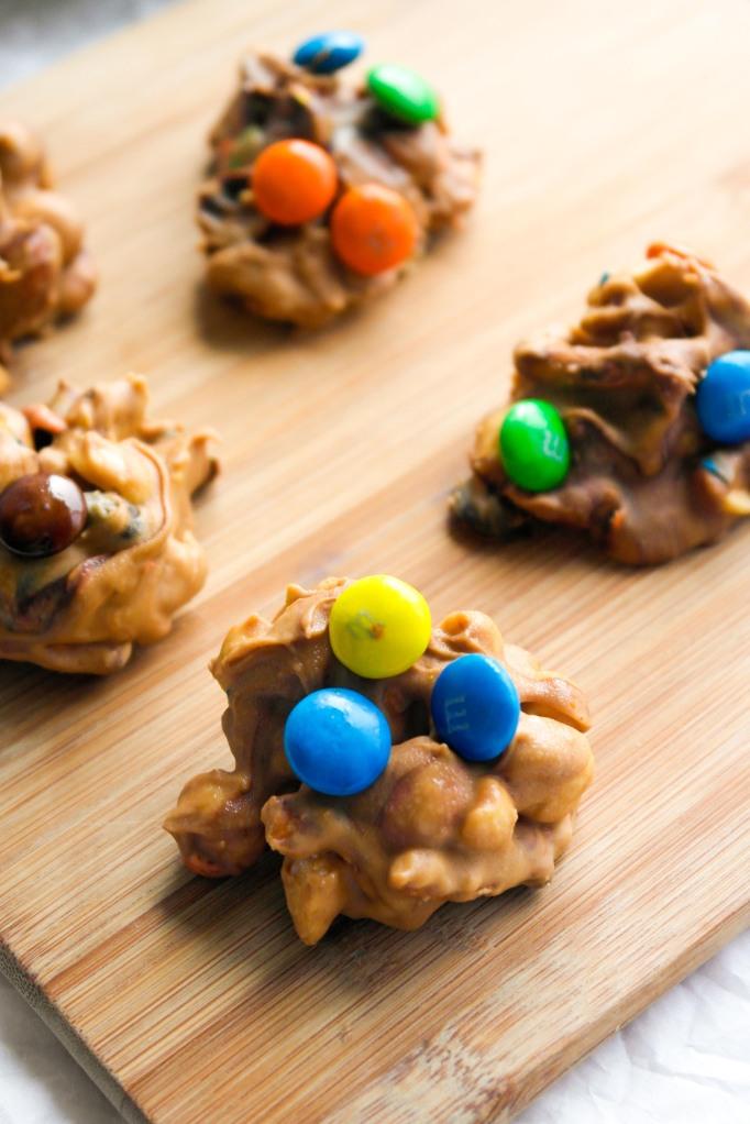 Butterscotch Peanut Butter Pretzel Clusters