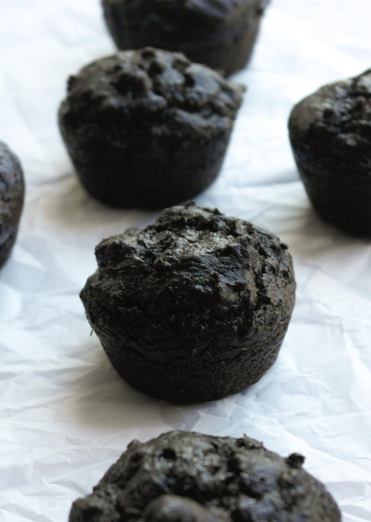Chocolate Avocado Berry Muffins