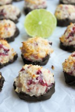 Cranberry Lime Coconut Macaroons