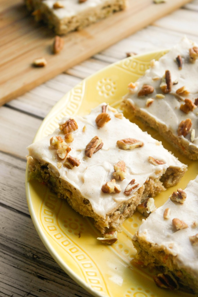 Spiced Zucchini Carrot Bars