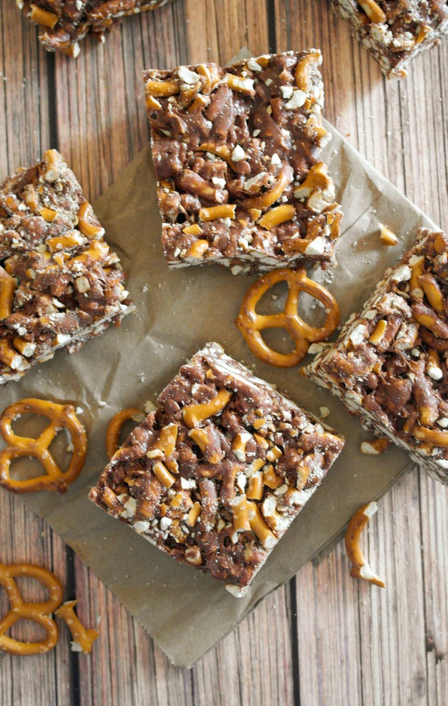 Nutella Pretzel Marshmallow Bars