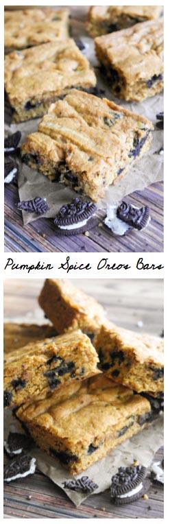 Pumpkin Spice Oreos Bars