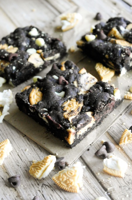 Chocolate Golden Oreo Cookie Bars