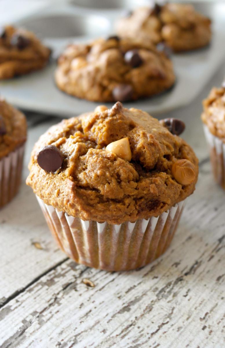 Healthy Pumpkin Pie Muffins